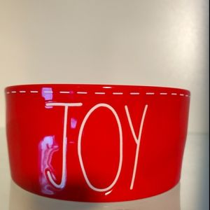Rae Dunn JOY Dog Bowl